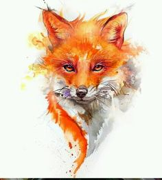 cute fox Hey look Brownie! Fox Painting, Painting & Drawing, Aquarell Tattoo Fuchs, Cute Animal Drawings, Art Drawings, Fox Drawing, Fox Illustration, Fox Art, Watercolor Animals