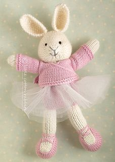 """BALLET BUNNY SWEATER THAT WILL FIT ANY """"LITTLE COTTON RABITS PATTERN."""""""