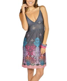 Take a look at this Black Floral V-Neck Dress by Sunshine Trends: Womens Apparel on @zulily today!