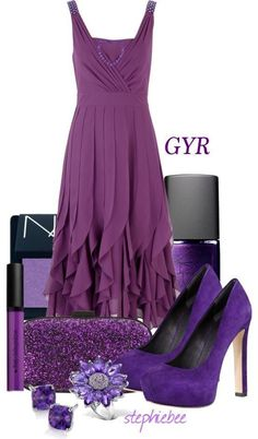 Purple outfit I would never wear all together but want the stuff!!
