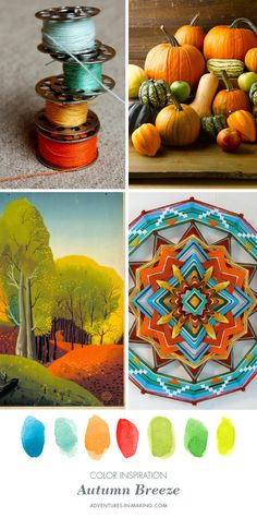 COLOR INSPIRATION: Autumn Breeze | http://adventures-in-making.com/color-inspiration-autumn-breeze/