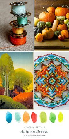 COLOR INSPIRATION: Autumn Breeze   http://adventures-in-making.com/color-inspiration-autumn-breeze/