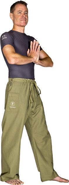 Organic Men's Yoga Pants - Earth Green - Organic Yoga Pants - MEN, by YOGiiZA