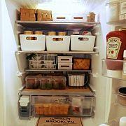 Kitchen,IKEA,冷蔵庫,セリア,水杉バスケット,調味料ラベルに関連する他の写真