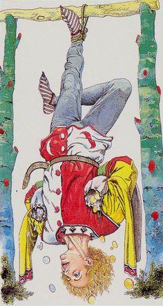 The Hanged Man - Tarocchi Ermetici: Wirth Moderno