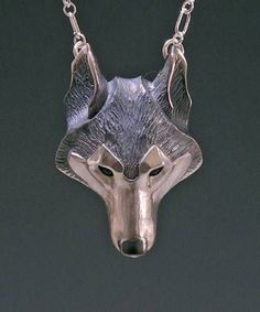 cool Handmade Silver Jewelry, Wolf Jewelry Pendant, Animal Lovers Gift