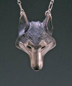cool Handmade Silver Jewelry, Wolf Jewelry Pendant, Animal Lovers Gift