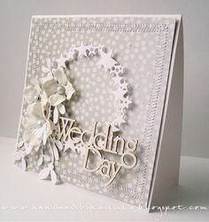 Zimowa kartka ślubna