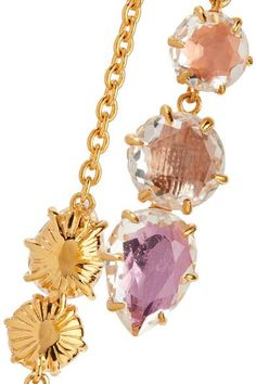 Caterina Gold-dipped Quartz Necklace - one size Larkspur & Hawk yCJG6