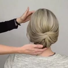 Easy to make style tutorial Classy Updo Hairstyles, Updo Hairstyles Tutorials, Easy Hairstyles For Long Hair, Girl Hairstyles, Short Hair Lengths, Short Hair Styles Easy, Curly Hair Styles, French Roll Hairstyle, Hair Upstyles