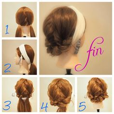 Media?size=l Hairstyles Haircuts, Pretty Hairstyles, Braided Hairstyles, Updo With Headband, Hair Arrange, Hair Setting, Everyday Hairstyles, Love Hair, Hair Dos