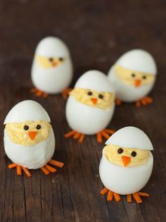 Baby chick devilled eggs