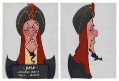 Villain Mugshots  Jafar by HaaappyAccidents on Etsy