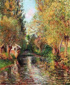 Camille Pissarro - The Washhouse at Bazincourt 1884