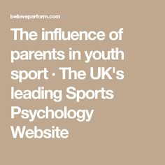 an analysis of parents involvement in youth sports and athletic programs When you run an organization such as the changing the game project, you hear many youth sports stories from parents, coaches, and players some stories are absolutely heartbreaking, others inspiring recently i encountered the absurd many of us have seen the news about a volleyball player from.