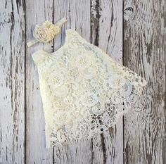 Baby girl dress. Ivory lace baby dress. Baby girl outfit.Christening dress. Baptism dress. Baby lace dress. by KadeesKloset on Etsy https://www.etsy.com/listing/246915579/baby-girl-dress-ivory-lace-baby-dress