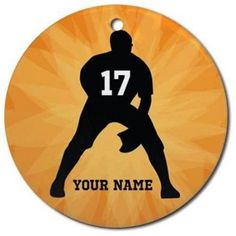 CafePress Personalized Baseball Player Ornament, Round, Multicolor
