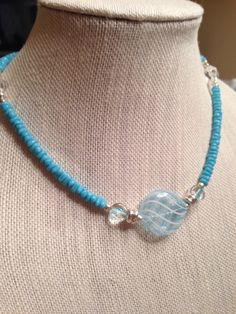 A personal favorite from my Etsy shop https://www.etsy.com/listing/208210661/summertime-blue-beaded-necklace-set