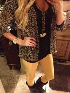 Cheetah print and skinnys.