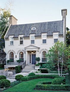 Exterior by Katherine Newman and Peter Cebulak in Toronto, Canada /      Architect: Peter Cebulak     Designer: Katherine Newman     Photographer: Tony Soluri     Homeowner: Chris and Joe Manget     Article: Twist On Tradition, May 2006     Location: Toronto, Canada