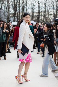 On the Street…..Before Valentino, Paris, beautiful shot of Caroline Issa by Scott #the sartorialist