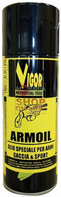 VIGOR SPRAY OLIO LUBRIFICANTE PER ARMI ML. 400 https://www.chiaradecaria.it/it/spray-lubrificanti/21445-vigor-spray-olio-lubrificante-per-armi-ml-400-8011779318601.html