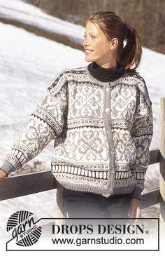 Free knitting patterns and crochet patterns by DROPS Design Knitting Kits, Fair Isle Knitting, Knitting Charts, Knitting Patterns Free, Knitting Yarn, Free Knitting, Free Pattern, Crochet Patterns, Crochet Wool