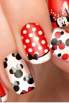 $5.63 - Minnie Mouse Disney nail transfers - illustrated nail art decals - MInnie Disney nail stickers #ad #nails #nailart #naildesigns #naildecals #Minnie #Minniemouse #disney #professionalpinner