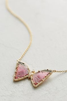 Slide View: 2: One-Of-A-Kind Butterfly Necklace