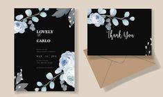 Beautiful Wedding Invitations, Floral Wedding Invitations, Wedding Invitation Templates, Vector Free, Elegant, Classy, Wedding Invitation Design, Chic