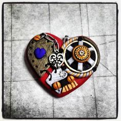 steampunk polymer clay hearts - Google Search