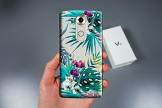 LG Stylo 2 Clear Tropic flowers case for lg V10 Lg g4s by momscase
