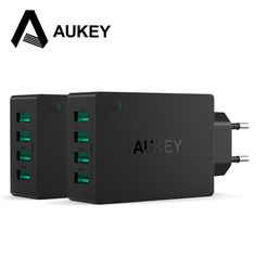 Aukey universal 4 puertos usb cargador de viaje cargador de pared adaptador para iphone7 samsung s6 smart phones/pc/mp3 y usb dispositivos móviles