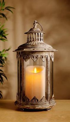 Lantern Decoration Ideas for Your Sweet Home. Lantern Decoration Ideas for Your Sweet Home. Lighting has a very important role in the arrangement of the house. With the right lighting, the house c. Lantern Lamp, Candle Lanterns, Flameless Candles, Candle Lamp, Antique Lanterns, Wax Candles, Pillar Candles, Chandelier Bougie, Vibeke Design