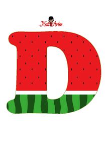 Watermelon Birthday Parties, 1st Birthday Party Themes, Fruit Birthday, Baby Birthday, Birthday Decorations, Watermelon Crafts, Birthday Letters, Letter D, Stationery Paper