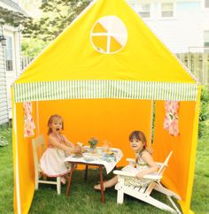 Canvas Playhouse & Sunshade by JennuineDesign on Etsy, $275.00