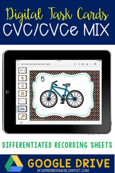 These CVC/CVCe: Mixed short and long vowel digital task cards are a fun and exciting way to reinforce the difference between short and long vowels.  This includes 2 sets of SCOOT/Task cards and differentiated recording sheets. They can be used during center time, the Daily 5 or small group reading. Click the link to find out more!