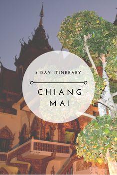 4 Day Itinerary to Chiang Mai  Chiang Mai | Thailand | Northern Thailand | Elephant Nature Park | Tuk Tuk | Wat | Thai | Travel | Asia | Southeast Asia