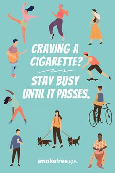 Cravings are uncomfortable, but they don't last forever. Stay busy to keep your mind focused on something else until the craving passes. Learn more ways to manage cravings: Nicotine Patch, Quit Smoking Tips, Cravings, Challenges, Learning, Studying, Teaching, Onderwijs