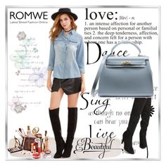 """""""ROMWE 7"""" by woman-1979 ❤ liked on Polyvore featuring WALL"""