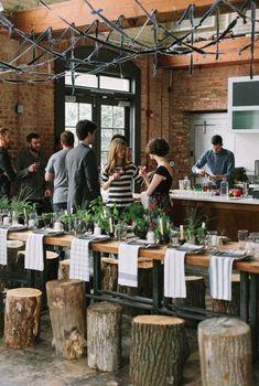 Decoración ecológica, Mesas auxiliares hechas con troncos de madera…