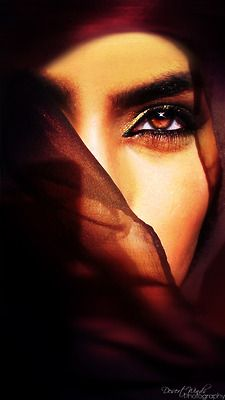 stunning head veil gold brown eyes mystery power enchanting