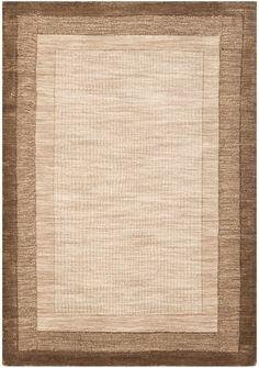 Leister Hand-Loomed Beige/Brown Area Rug