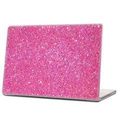 Bubblegum Pink - Glitter Laptop Skin (hex .015) by IridescentBeauty, $40.00 - Love! Glamorous and affordable.