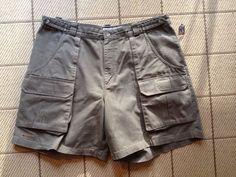 Columbia Sportswear Olive Green Cotton Canvas Cargo Hiking Field Shorts Size 40 #ColumbiaSportswear #Cargo
