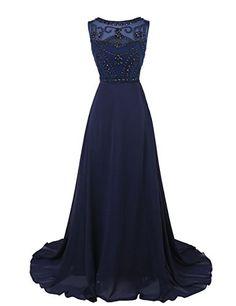 Dresstells Women's Long Chiffon Prom Dress Evening Gown with Beading Navy Size 10 Dresstells http://www.amazon.co.uk/dp/B00S9HHIB0/ref=cm_sw_r_pi_dp_a8l.wb0FWNQDT