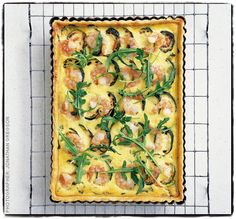 Alex's prawn and courgette quiche with rocket for Royal Ascot!