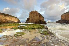 Shark Fin Surf #1 - Santa Cruz County, California by PatrickSmithPhotography, via Flickr