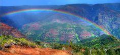 Waimea Canyon on Kauai. One of the most beautiful places I've ever seen! Waimea Canyon, Rainbow Photo, World Religions, Amazing Nature, Amazing Spaces, What A Wonderful World, Heaven On Earth, Open Up, Wonders Of The World