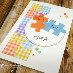 Love You to Pieces – littlepaperparty Love You To Pieces, Homemade Toys, Creative Memories, Love Cards, Stamping Up, Puzzle Pieces, Sign Design, Stampin Up Cards, I Card